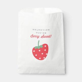 Bolso dulce del favor del el día de San Valentín Bolsa De Papel