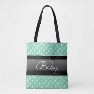 Bolso elegante del bebé de los lunares y de los bolsa de tela