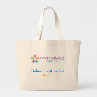 Bolso en línea de los milagros de la familia bolsa tela grande