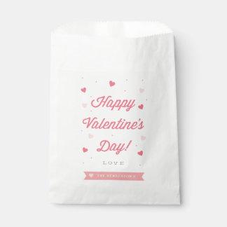 Bolso feliz del favor del el día de San Valentín Bolsa De Papel