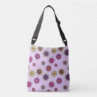 Bolso floral púrpura del jardín de la mandala