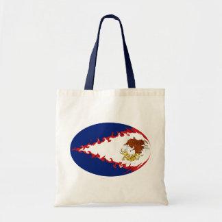 Bolso Gnarly de la bandera de American Samoa Bolsas