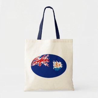 Bolso Gnarly de la bandera de Anguila Bolsas De Mano