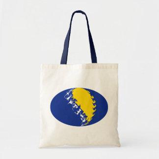 Bolso Gnarly de la bandera de Bosnia y Hercegovina Bolsas De Mano