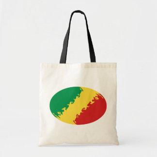 Bolso Gnarly de la bandera de Congo-Brazzaville Bolsas Lienzo