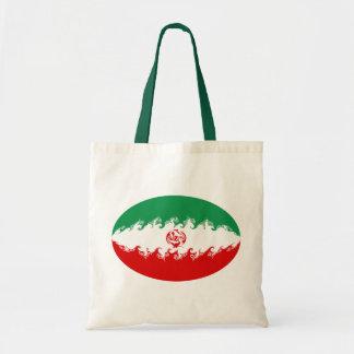 Bolso Gnarly de la bandera de Irán Bolsas Lienzo