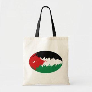 Bolso Gnarly de la bandera de Jordania Bolsas De Mano