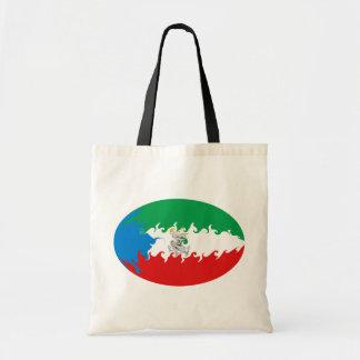 Bolso Gnarly de la bandera de la Guinea Ecuatorial Bolsa