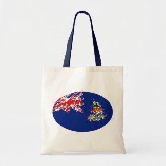 Bolso Gnarly de la bandera de las Islas Caimán Bolsa De Mano