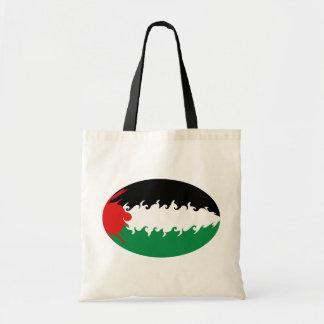 Bolso Gnarly de la bandera de Palestina Bolsas De Mano