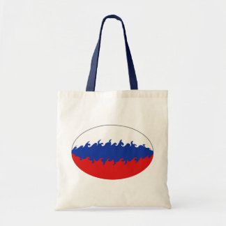 Bolso Gnarly de la bandera de Rusia Bolsa De Mano