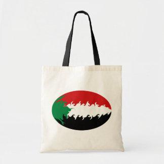 Bolso Gnarly de la bandera de Sudán Bolsa De Mano