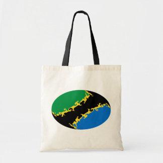 Bolso Gnarly de la bandera de Tanzania Bolsa Lienzo