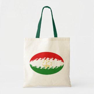 Bolso Gnarly de la bandera de Tayikistán Bolsa Lienzo