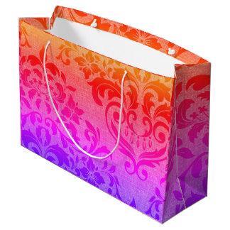 Bolso grande brillante y festivo del regalo bolsa de regalo grande