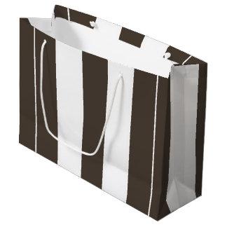 Bolso grande de color topo y blanco del regalo de bolsa de regalo grande