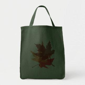 Bolso grande de las hojas de otoño bolsa de mano