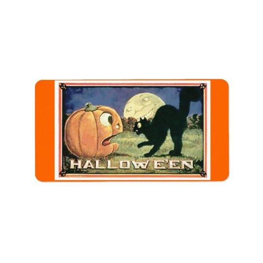 Bolso Halloween del caramelo Etiqueta De Dirección