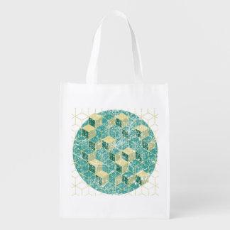 bolso lavado geométrico
