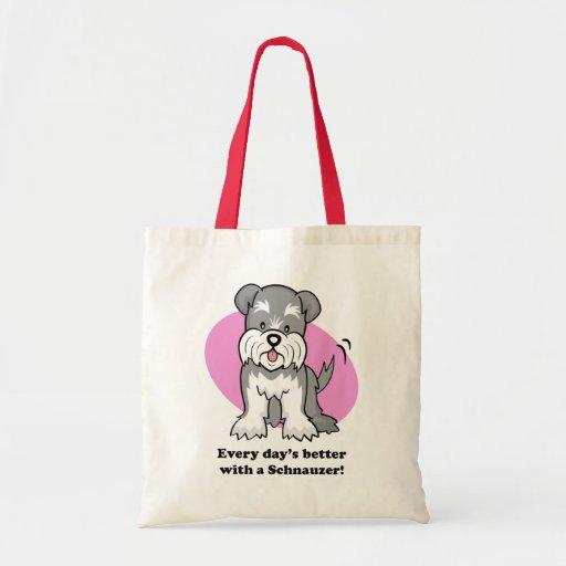 Bolso lindo del Schnauzer del perro del dibujo ani Bolsa