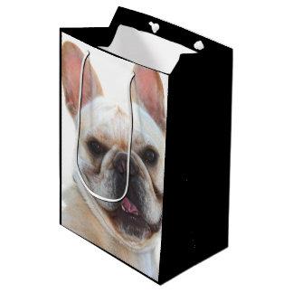 Bolso medio del regalo del dogo francés bolsa de regalo mediana