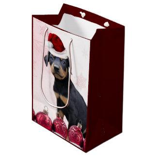 Bolso medio del regalo del perro del Pinscher del Bolsa De Regalo Mediana