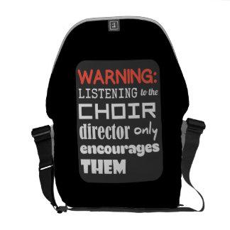 Bolso Messenger Humor de la música del coro