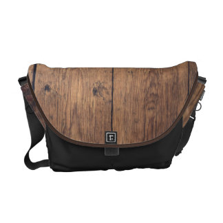 Bolso Messenger Textura de madera