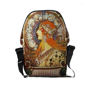 Bolso Messenger Vintage de Nouveau del arte del zodiaco del