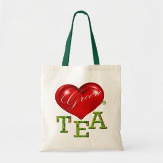 Bolso moderno del diseñador del té verde del amor