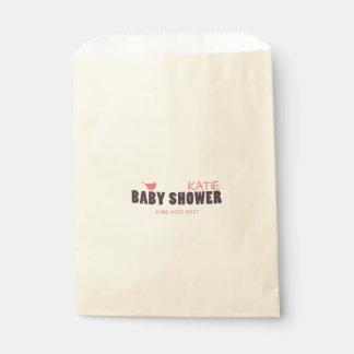 Bolso moderno del favor de la ducha de la niña bolsa de papel