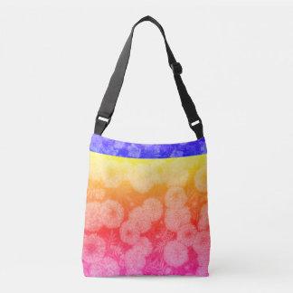 Bolso multicolor del diseño floral bolsa cruzada