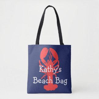 Bolso personalizado de la playa de la langosta con bolsa de tela