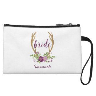 Bolso personalizado del cosmético de la novia de