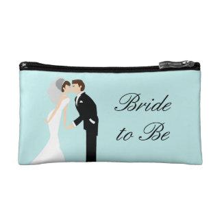 Bolso personalizado del cosmético del boda de la