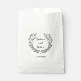 Bolso personalizado favor del nombre y de la fecha bolsa de papel