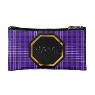 Bolso púrpura adaptable de los cosméticos de la