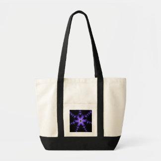 Bolso púrpura de la explosión de la flor bolsa tela impulso
