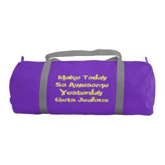 Bolso púrpura del gimnasio de la lona bolsa de deporte