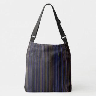 Bolso púrpura del marrón azul de la raya retra
