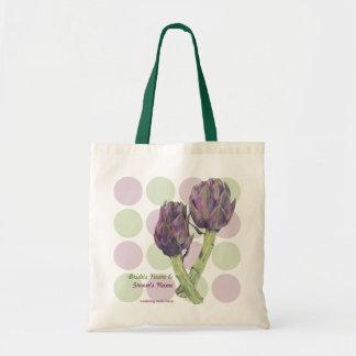 Bolso púrpura del regalo de boda de los puntos de  bolsa tela barata