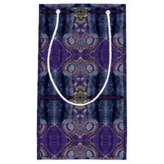 bolso púrpura del regalo del diamante bolsa de regalo pequeña