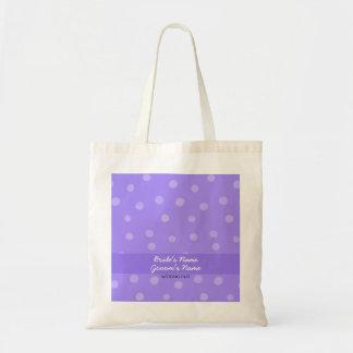 Bolso púrpura pintado del regalo de boda de los bolsa tela barata