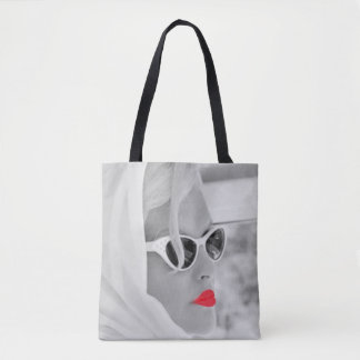 Bolso retro del arte gráfico de la mujer de los bolso de tela