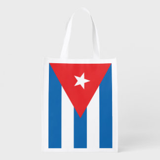 Bolso reutilizable de la bandera cubana bolsas para la compra