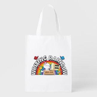 Bolso reutilizable del arco iris de la escritura