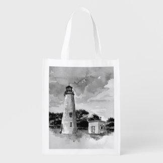 Bolso reutilizable del faro de la isla de Ocracoke