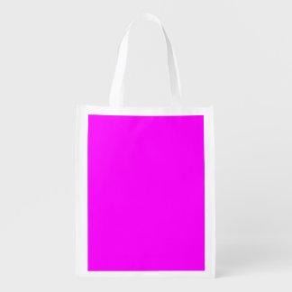 bolso reutilizable fucsia púrpura