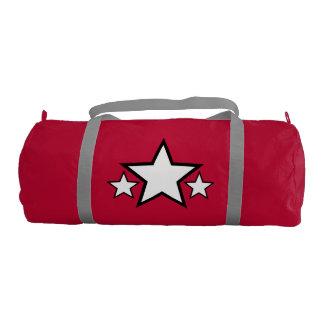 Bolso rojo del gimnasio de la lona bolsa de deporte