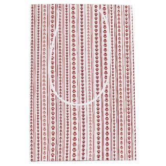 Bolso rojo y rosado del regalo de la raya de la bolsa de regalo mediana